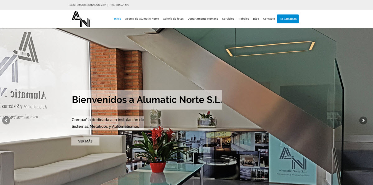 Nueva web Alumatic Norte